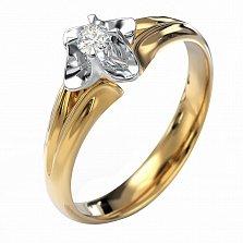 Золотое кольцо Irma в комбинированном цвете с бриллиантом