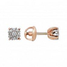 Золотые серьги с бриллиантами Гликерия