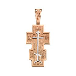 Крестик из золота комбинированного цвета 000141704