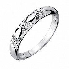 Обручальное кольцо с бриллиантами Эстель