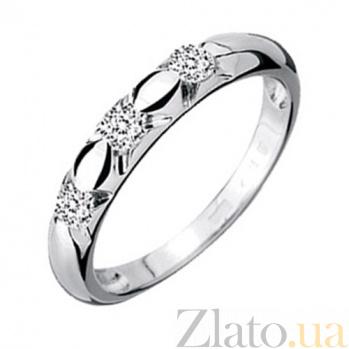 Обручальное кольцо с бриллиантами Эстель KBL--К1464/бел/брил