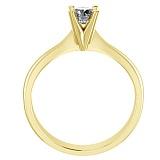 Помолвочное кольцо из желтого золота Победа любви с бриллиантом 3,7мм