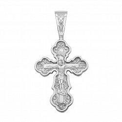 Православный серебряный крестик 000133517