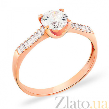 Кольцо из красного золота с фианитами Вирджиния SUF--140424