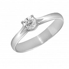 Кольцо из белого золота Клятва верности с бриллиантом