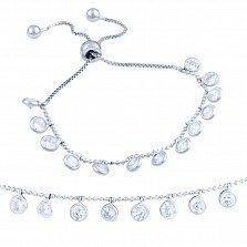 Серебряный браслет Фаина с кристаллами циркония