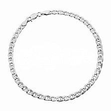 Серебряный браслет Киан с родием, 3 мм