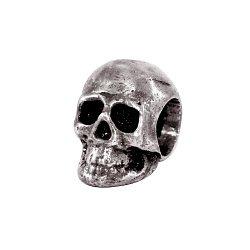 Серебряный кулон-шарм Knox в форме черепа с чернением 000091308