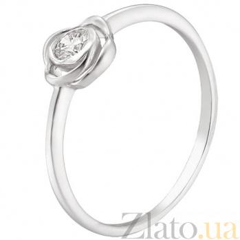 Кольцо из белого золота с бриллиантом Розалина TRF--1221472н
