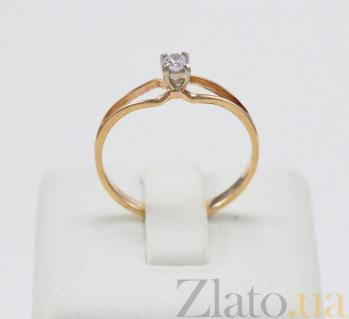 Кольцо из красного золота Лайан с фианитом VLN--212-1491