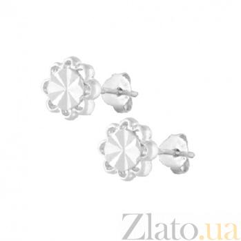 Серебряные серьги-гвоздики Dream Flowers SLX--С2/374