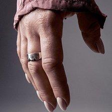 Кольцо из серебра Splinter с чернением