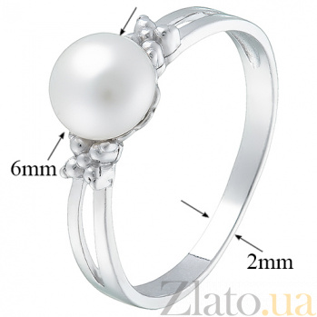 Серебряное кольцо с жемчугом Мария 1768/9р бел