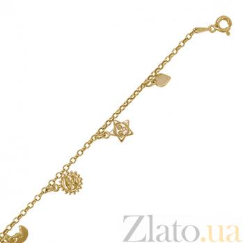 Серебряный браслет с позолотой Sunny 000027936