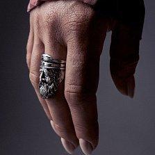 Кольцо из серебра Shellback с чернением