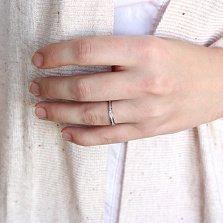 Золотое кольцо Амина в белом цвете с бриллиантами