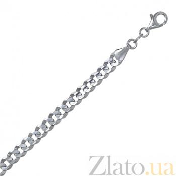 Серебряный браслет Тибальт с родированием, 21 см, 6 мм 000027404