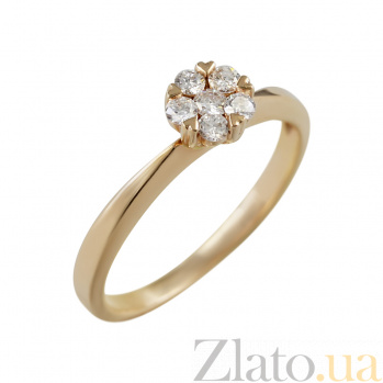 Золотое кольцо с бриллиантами София 000026933