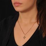 Золотой крестик с бриллиантом Соната