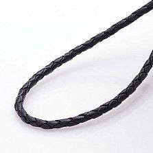 Кожаный шнурок Мечта с серебряной позолоченной застежкой