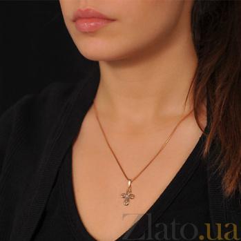 Золотой крестик с бриллиантом Соната EDM--КР7160