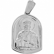 Серебряная ладанка Святой защитник