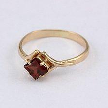 Золотое кольцо с гранатом Галата