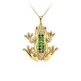 Золотое колье с цаворитами, сапфирами и бриллиантами Чудо Бытия