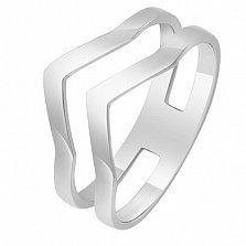 Кольцо из белого золота Вектор