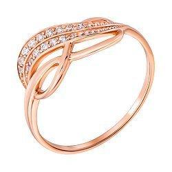 Кольцо из красного золота Септима с кристаллами циркония