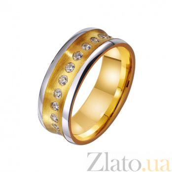 Золотое обручальное кольцо Источник радости с фианитовой дорожкой на всю шинку TRF--4421676