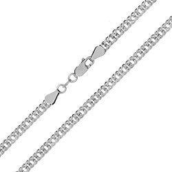 Серебряная цепь с родированием, 4 мм 000027697