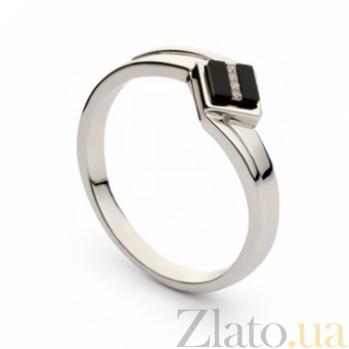 Кольцо из белого золота с ониксом Скейтч 000030298