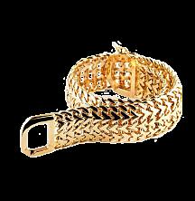 Широкий золотой браслет Кастор