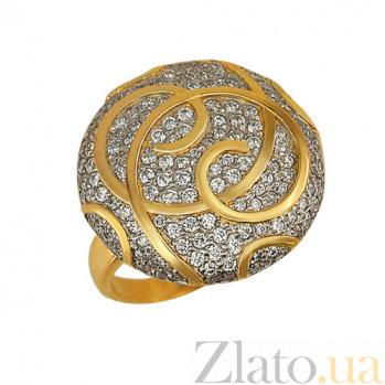 Кольцо из белого и желтого золота Волшебство с фианитами VLT--ТТ172-1