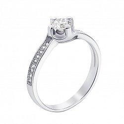 Серебряное кольцо с фианитами 000127122