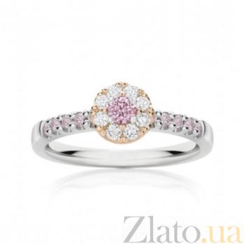 Кольцо Argile из белого и розового золота с бриллиантами и розовыми сапфирами R-cjAr-W/R-9s-8d