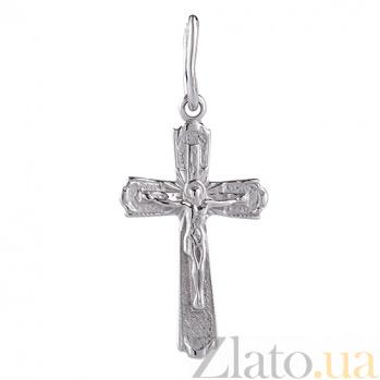 Крестик из белого золота Вера и Спасение TRF--321010