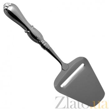 Серебряная трапецевидная лопатка Ольга для сервировки сыра  ZMX--110_350