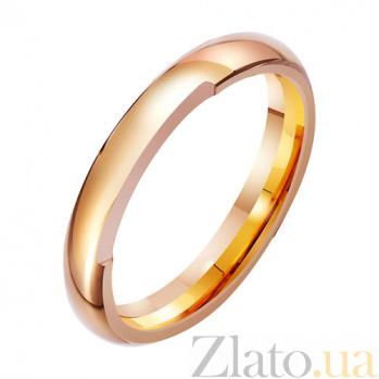 Золотое обручальное кольцо Трепет и нежность TRF--4111259