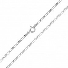 Серебряная цепь Сарагоса с родированием
