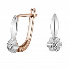 Золотые серьги Элоиза с бриллиантами