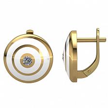 Серьги Fellini — Итальянская ночь с бриллиантами и эмалью