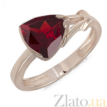 Кольцо в красном золоте Деметра с гранатом 000023497