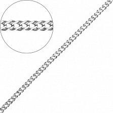 Серебряная родированная цепочка Рембо