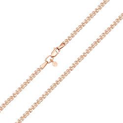 Золотая цепочка Моник  в красном цвете с алмазной гранью, 2мм