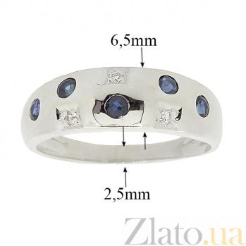 Серебряное кольцо с бриллиантами и сапфирами Mosaic  ZMX--RDS-6048-Ag_K