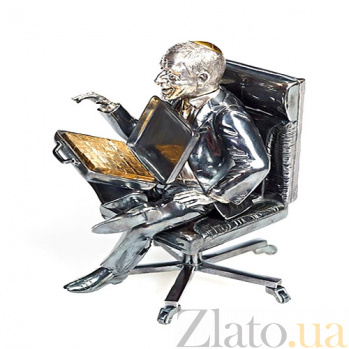 Серебряная статуэтка Финансовый гений 902
