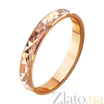 Золотое обручальное кольцо Сладкая жизнь TRF--411004