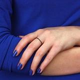 Кольцо в белом золоте Аюна с черными фианитами